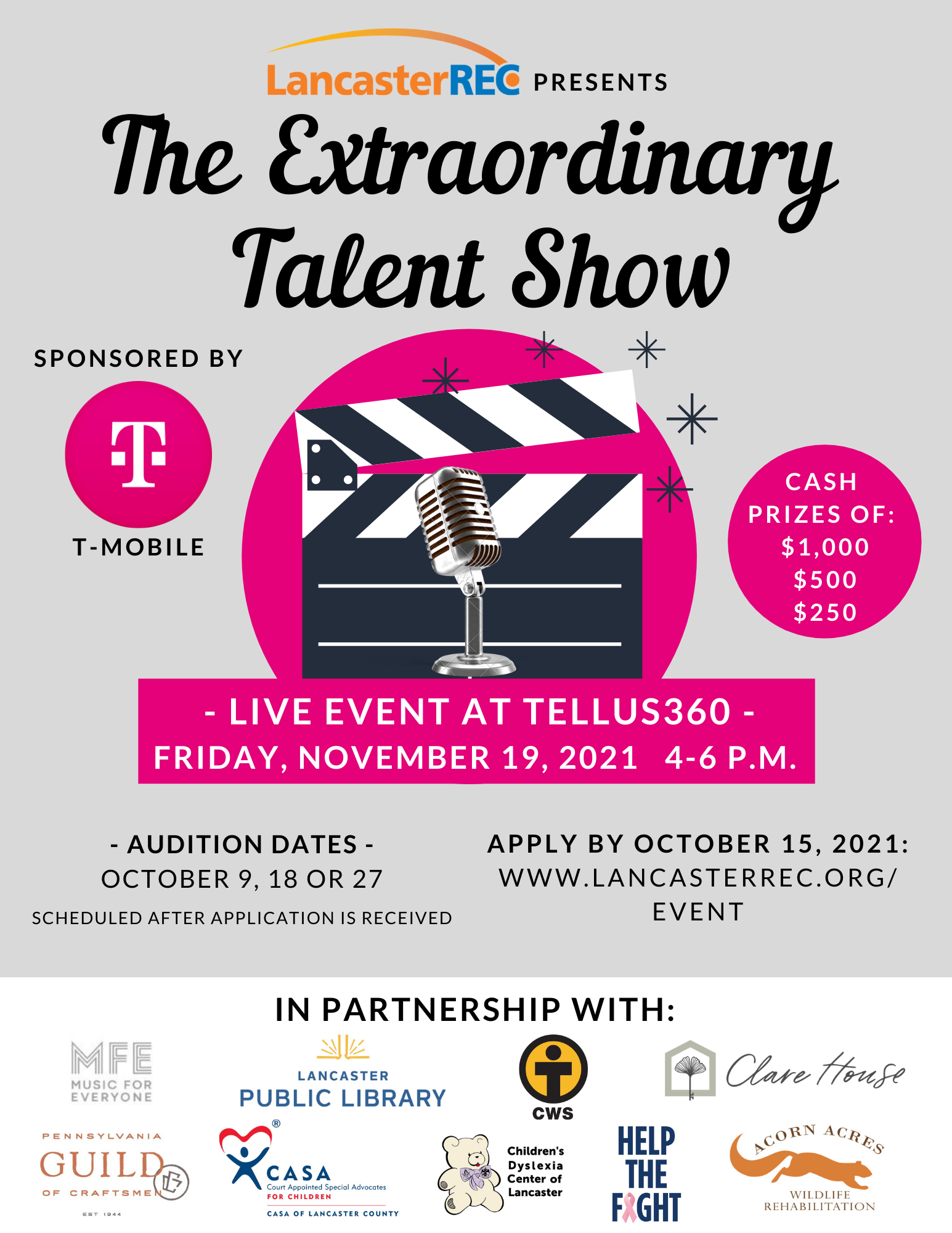 Extraordinary Talent Show Ad with Auditions